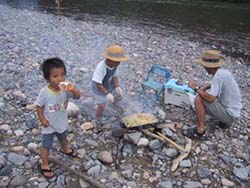 キャンプ 久慈川