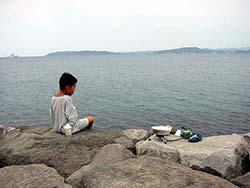 館山でイワシ釣り