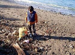 釣り場のゴミ拾い