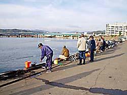 岩手宮古のハゼ釣り