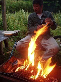 イシナギの炭火焼き