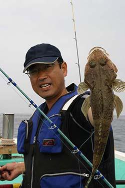 岩井沖ボート釣り ワニゴチ