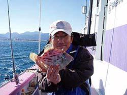 小田原カワハギ釣り