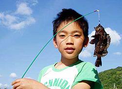 ゴロタ場のムラソイ釣り